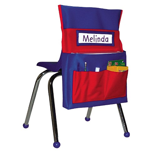 Carson-Dellosa Publishing Chairback Buddy Pocket Chart, 12 x 22 1/2, Blue/Red - image 1 of 1