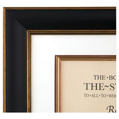 Pinnacle Frames 13x15 Document Frame Black Gold Target