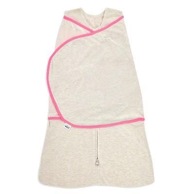 HALO Innovations Sleepsack Swaddle Wrap Ideal Temperature - Oatmeal Pink - Newborn