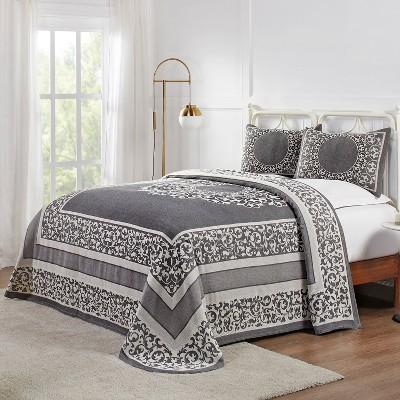 Lightweight Cotton Blend Woven Jacquard Bohemian Mandala Bedspread Set - Blue Nile Mills
