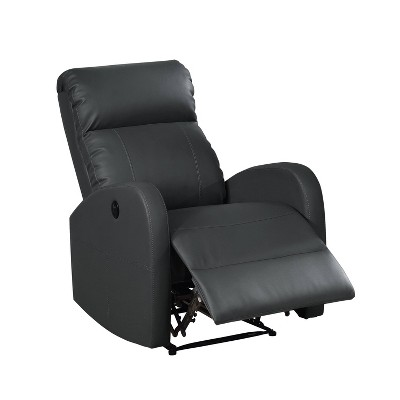 Sean Modern Leather Infused Power Recliner - AC Pacific