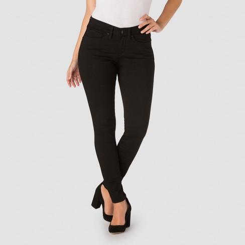 Denizen From Levis Womens Curvy Skinny Jeans Black Pearl 2