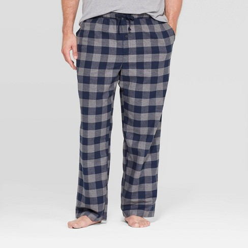 Men's Big & Tall Plaid Flannel Pajama Pants - Goodfellow & Co™ Gray - image 1 of 2