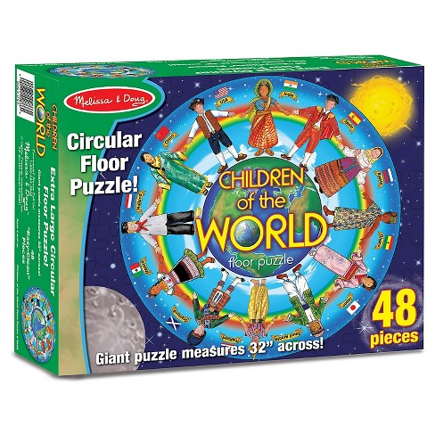 Melissa And Doug Children Of The World Jumbo Floor Puzzle 48pc on world map puzzle pieces, united states map puzzle, world map bookmarks, world map rug, world map of the floor, world map wood puzzle, world map lettering, world map 1000, printable world map puzzle, world map stickers, world map coloring page preschool, sesame street puzzle, large world map puzzle, world map game, world jigsaw puzzles, continents map puzzle, world map arts and crafts, world map chart, world map clock,