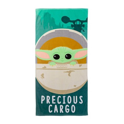 Star Wars: The Mandalorian Precious Cargo Beach Towel Green