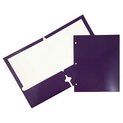 JAM 6pk 3 Hole Punch 2 Pocket Glossy Paper Folder