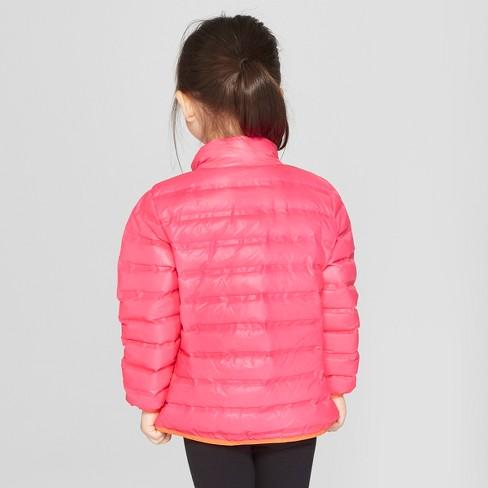 56a0e26da7f1 Toddler Girls  Puffer Jacket - Cat   Jack™ Pink   Target