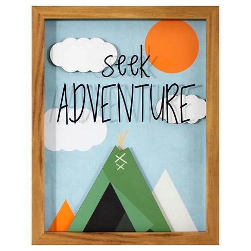 Seek Adventure Framed Art - Pillowfort™ - image 1 of 3