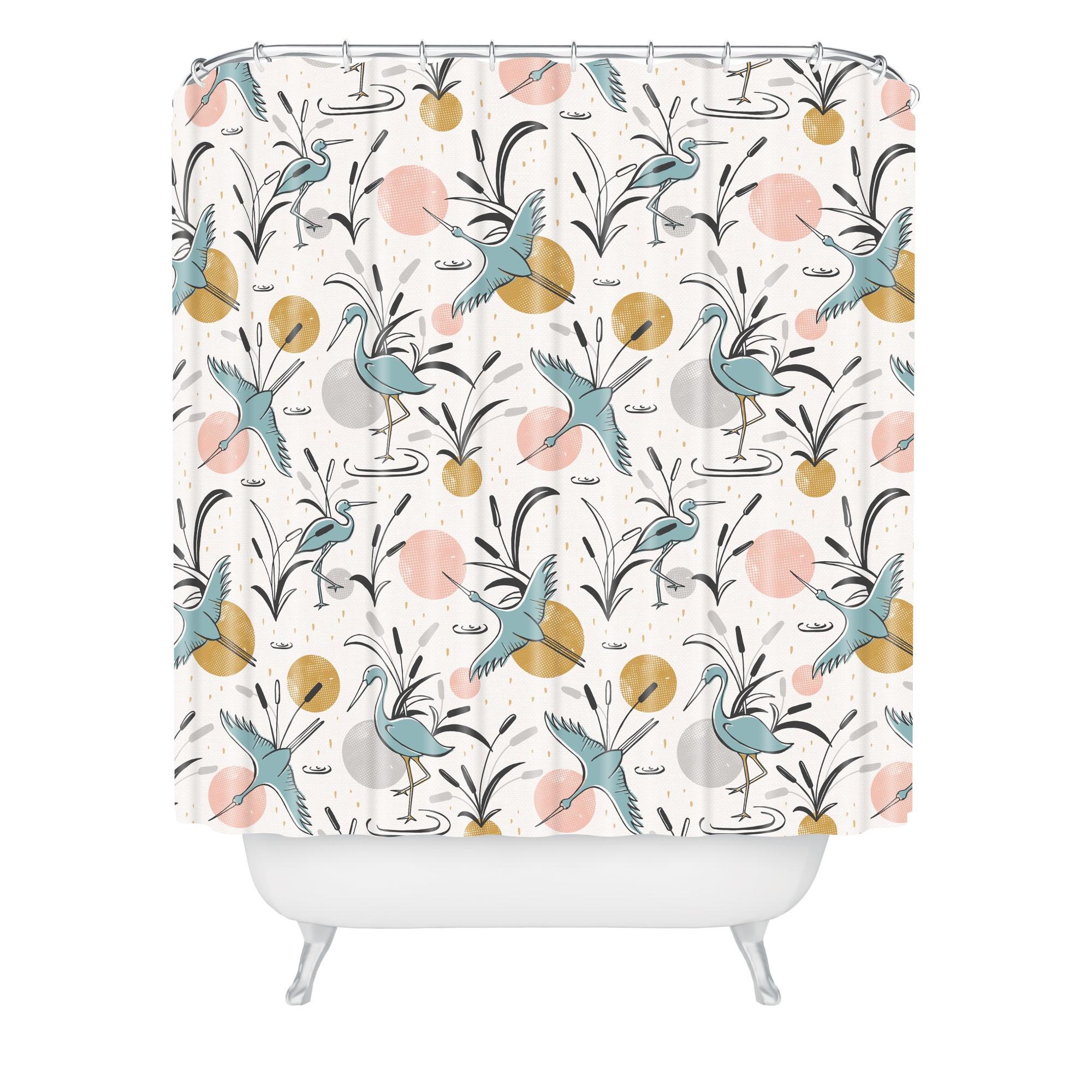 Marshland Shower Curtain Pink - Deny Designs