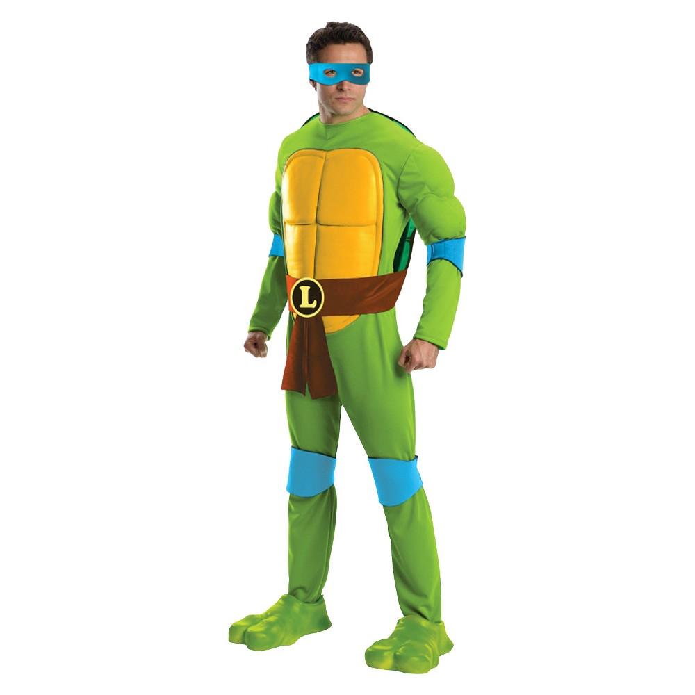 Teenage Mutant Ninja Turtles Men's Deluxe Leonardo Costume
