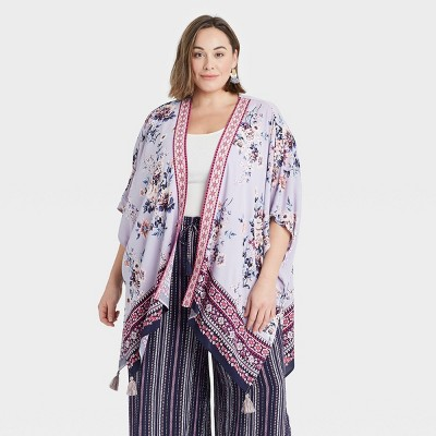 Women's Floral Print Short Sleeve Jacket - Knox Rose™