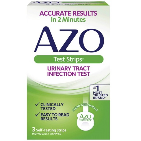 AZO Urinary Tract Infection Test Strips, UTI Test Results in 2 Minutes - 3ct - image 1 of 4