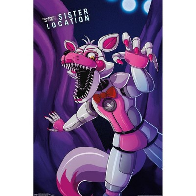 """22.375"""" x 34"""" Five Nights at Freddy's: Sister Location - Funtime Foxy Unframed Wall Poster Print - Trends International"""