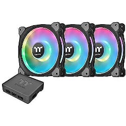 Thermaltake Riing Duo RGB Software Enabled Case Fan - Three Pack