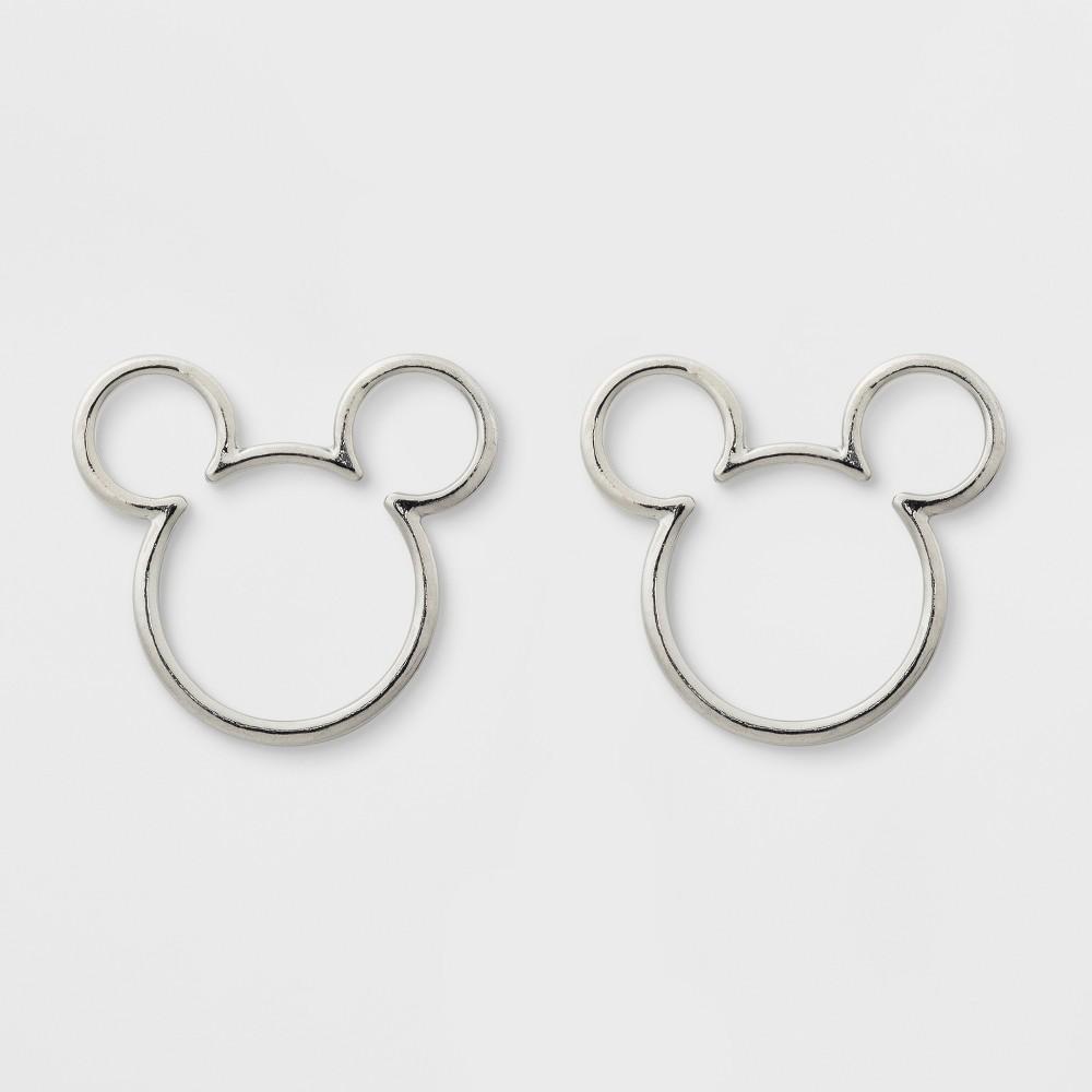 Girls' Disney Mickey Mouse Earrings - Silver