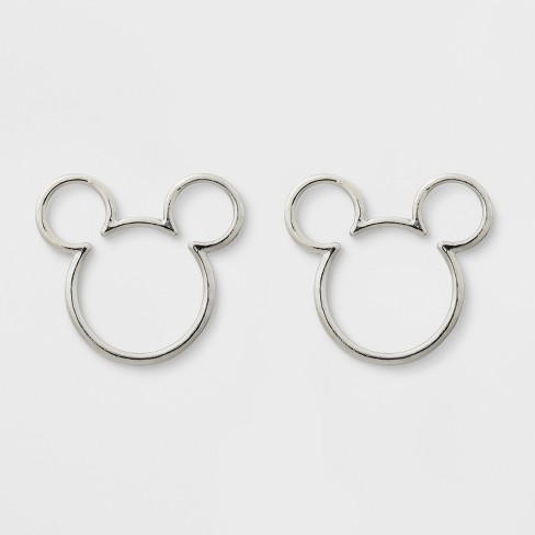S Disney Mickey Mouse Earrings Silver