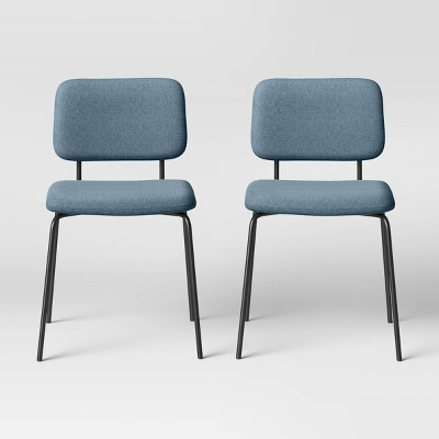 2pk Square Back Upholstered Dining Chairs - Room Essentials™