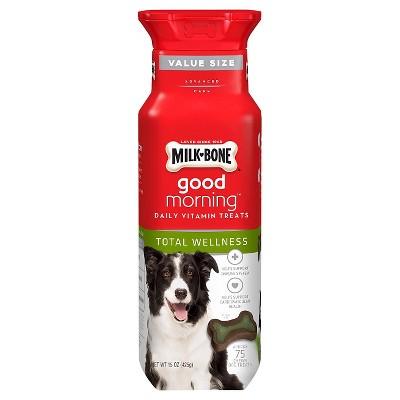 Milk-Bone Good Mornings Total Wellness Daily Vitamin Dog Treat - 15oz