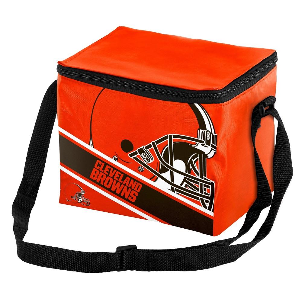 NFL Big Logo Stripe 6 Pack Cooler-Cleveland Browns, Cleveland Browns