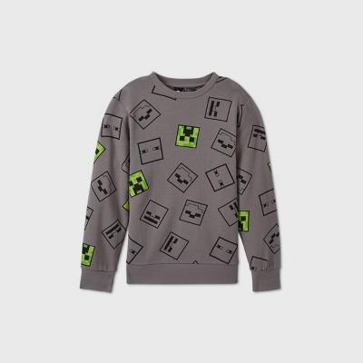 Boys' Minecraft Fleece Sweatshirt - Gray