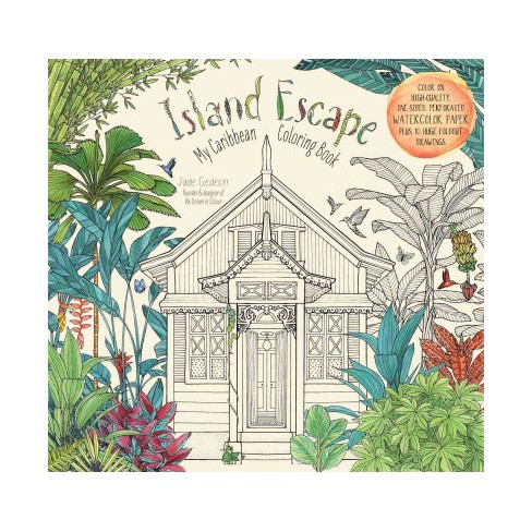 Island Escape Adult Coloring Book My Caribbean