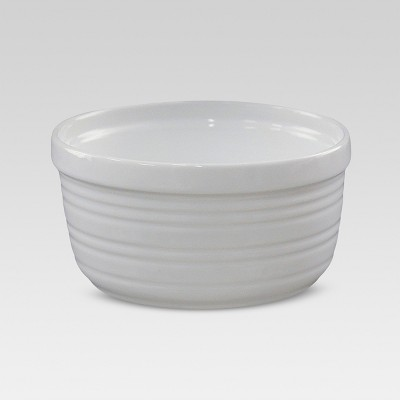 Horizontal-Stripe Ramekin 1-cup Porcelain - Threshold™