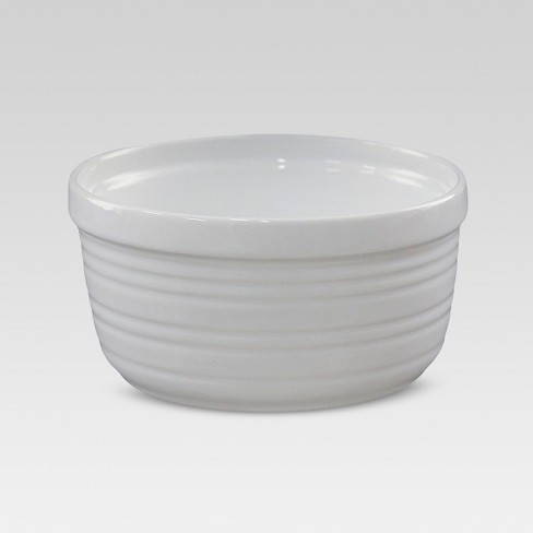 Horizontal-Stripe Ramekin 1-cup Porcelain - Threshold™ - image 1 of 1
