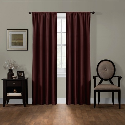 "Julius Blackout Smart Curtain Panel Burgundy Heather 50""x84"" - Maytex - image 1 of 6"
