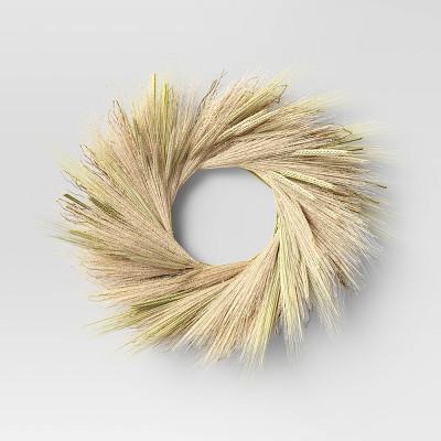 21 Dried Grass Wreath White - Threshold™