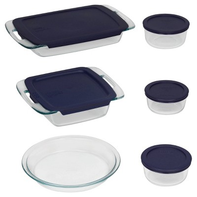 Pyrex 11pc Glass Easy Grab Bake N Store Set