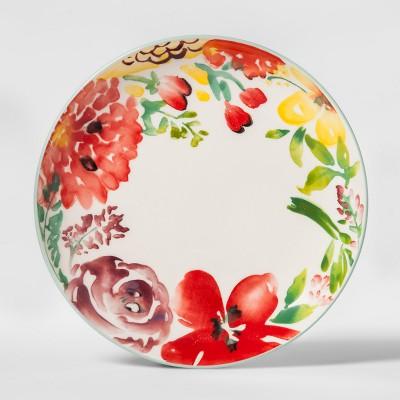 8.6  Corinna Stoneware Floral Salad Plate - Threshold™