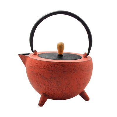 "Frieling ""Pop"", Cast Iron Teapot, 34 fl. oz. , Red/Black"