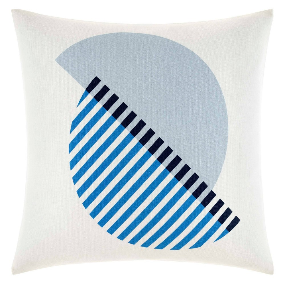 "Image of ""Now House by Jonathan Adler Chroma Circle 18""""x18"""" Throw Pillow Blue"""