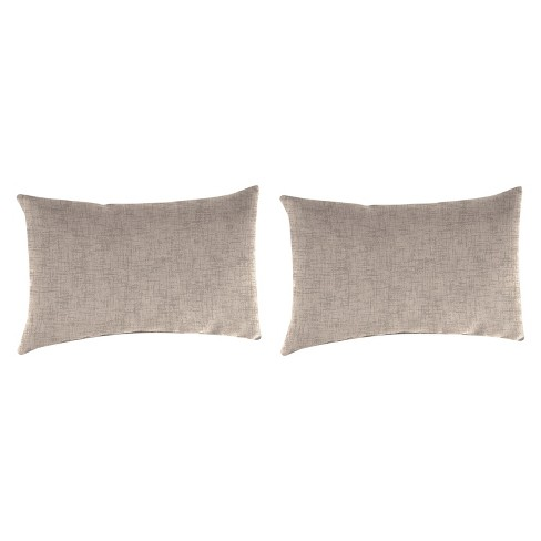 Outdoor Set Of 2 Rectangular Accessory Toss Pillows In Jackson Oyster - Jordan Manufacturing - image 1 of 1