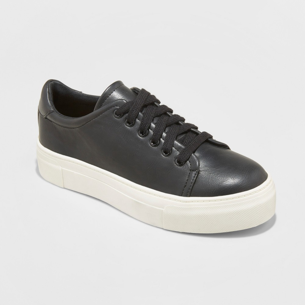 Women's Belicia Lace Up Sneakers - Universal Thread Black 8
