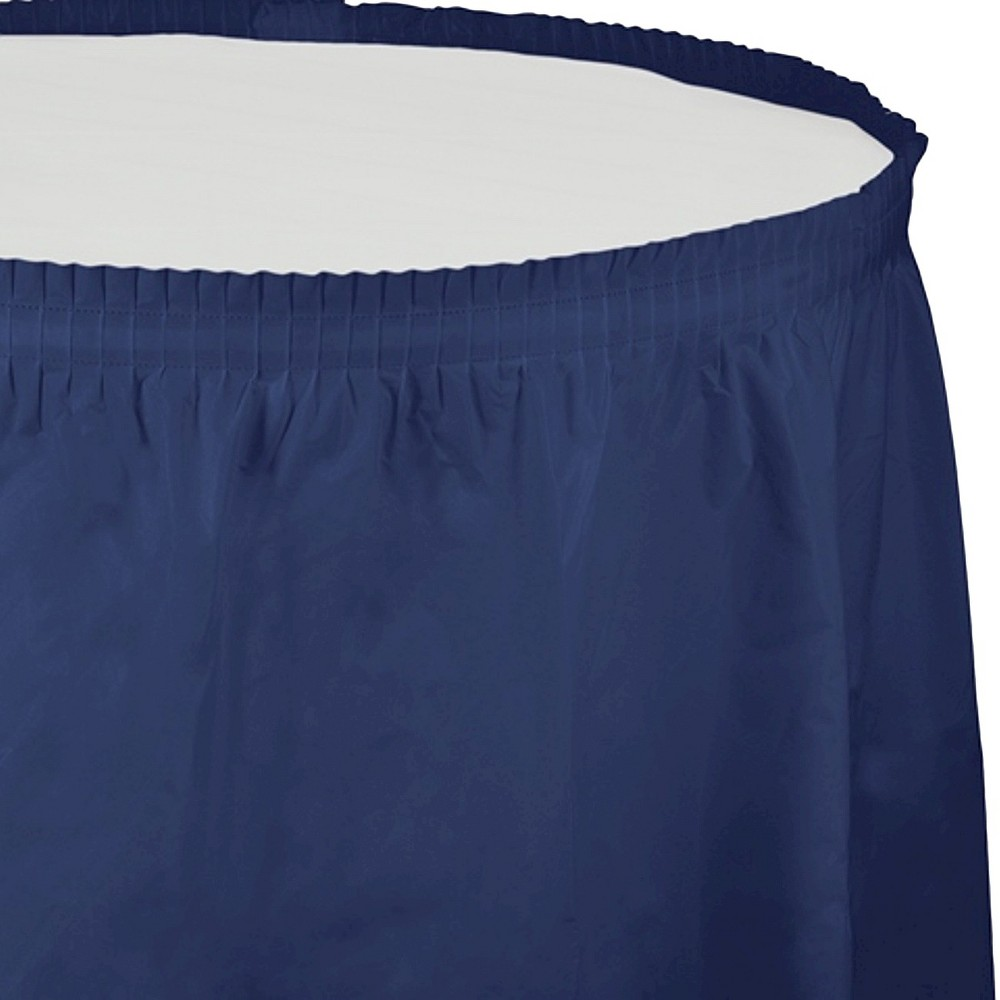 Navy Blue Disposable Tablecloth