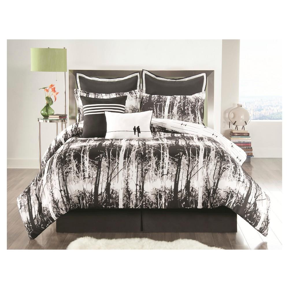 Woodland Comforter Set Full Black 6 Piece - Vcny