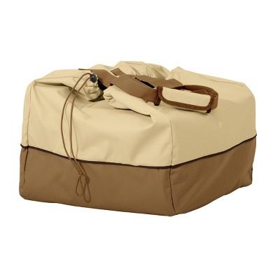 20''x16''x15'' Veranda Water-Resistant Rectangular Table Top Grill Cover & Carry Bag Light Medium - Classic Accessories