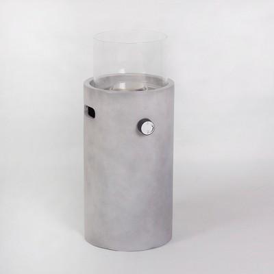 Pipestone 22  Round Concrete Look Fire Column - Gray - Project 62™