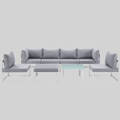 Fortuna 8pc Outdoor Patio Sectional Sofa Set - Modway