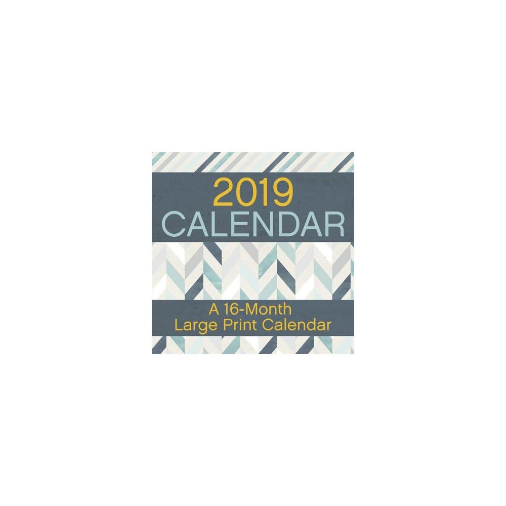 Large Print 2019 Calendar - (Paperback)