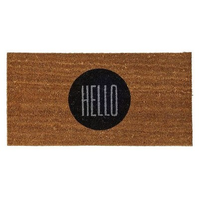 Coir Door Mat  Hello  - 3R Studios
