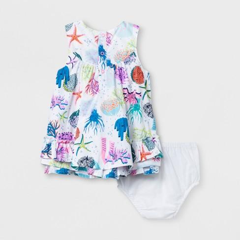 a22acfa82b0f Baby Girls  A-Line Dress - Cat   Jack™ White   Target