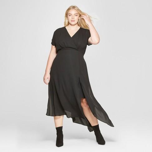 Women\'s Plus Size Scarf Hem Dress - Prologue™ Black 4X