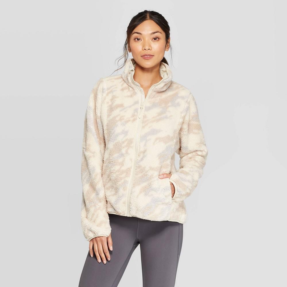 Women's Camo Print Fleece Jacket – C9 Champion XL, Women's, Green