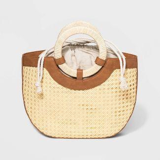 Half Moon Satchel Handbag - Universal Thread™ Natural