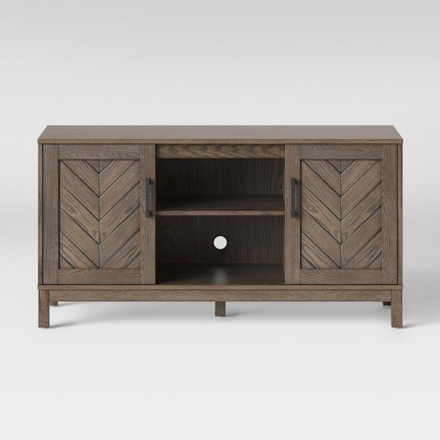 Eastford V Pattern TV Stand Brown - Threshold™ - image 1 of 4