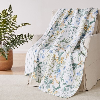 Apolonia Botanical Floral Quilted Throw - Villa Lugano by Levtex Home