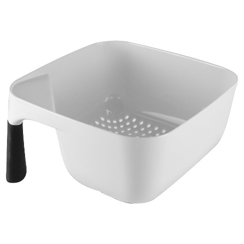KitchenAid   Corner Colander 3 Quart White with Black Handle - image 1 of 1