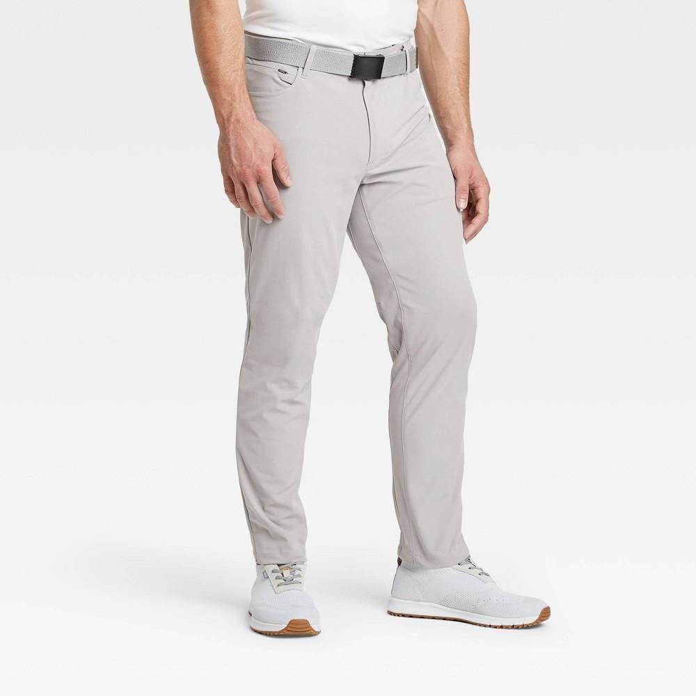 Men 39 S Golf Pants All In Motion 8482 Light Gray 34x30